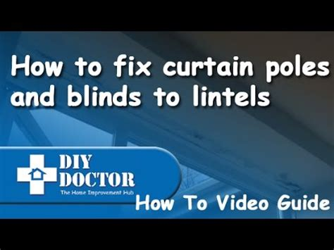 how to fix curtain blinds how to fix curtain poles and blinds to window lintels