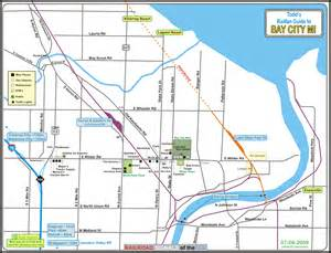 map of bay city bay city mi railfan guide