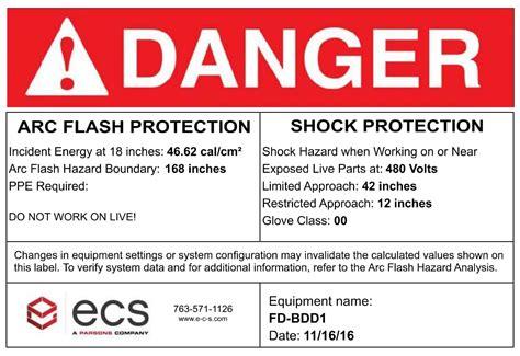Arc Flash Hazard Analysis What Companies Must Know Osha Regulations Arc Flash Label Template