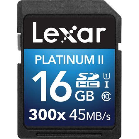 Memory Class 10 lexar 16gb platinum ii uhs i 300x sdhc memory card lsd16gbbnl300