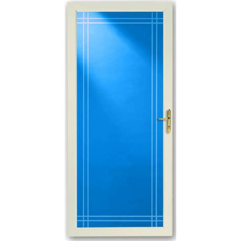larson almond full view beveled safety glass  interchangeable screen storm door common