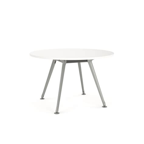 Table L Silver Base by Team Meeting Table Table 1200mm Diametre