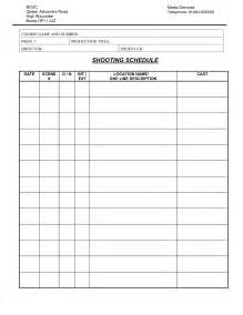 blank call sheet template production call sheet template exle helloalive