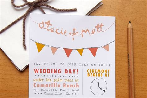 wedding invitations on etsy budget wedding ideas diy invitations etsy weddings bunting