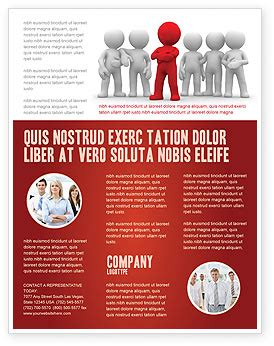 Team Leader Flyer Template Background In Microsoft Word Publisher And Illustrator Formats Team Brochure Template