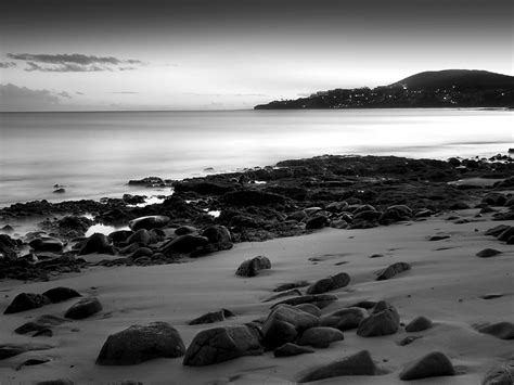 black  white beach wallpaper hd wallpapers