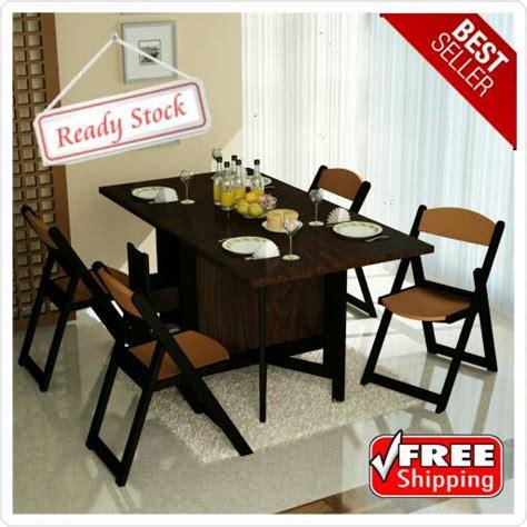 Kursi Kayu Mahoni jual meja makan lipat dan 4 kursi makan kayu mahoni white mapple karya sukses mandiri