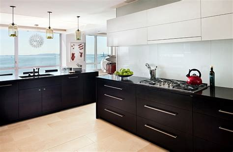 kitchen with black and white cabinets kitchen cabinets the 9 most popular colors to pick from
