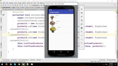 tutorial listview android studio android tutorial custom listview layout youtube