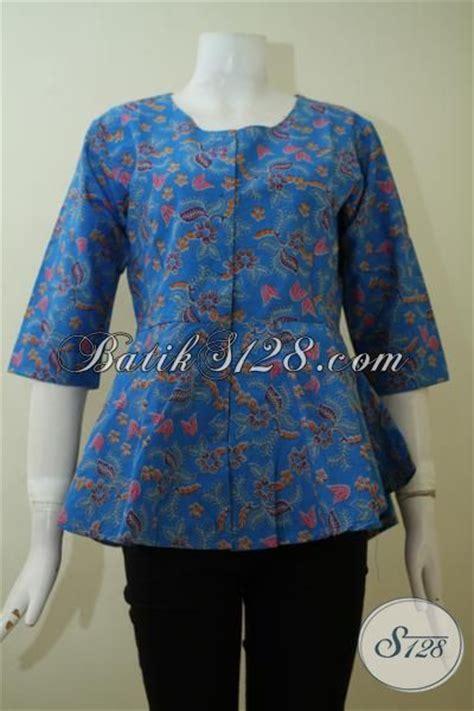 Bluse Mlxl desain blouse batik modern blue denim blouses