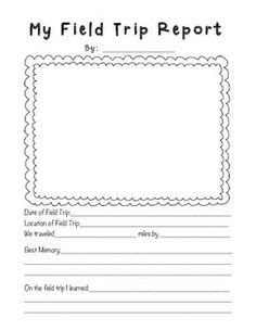 field trip report template grade writing on graphic organizers
