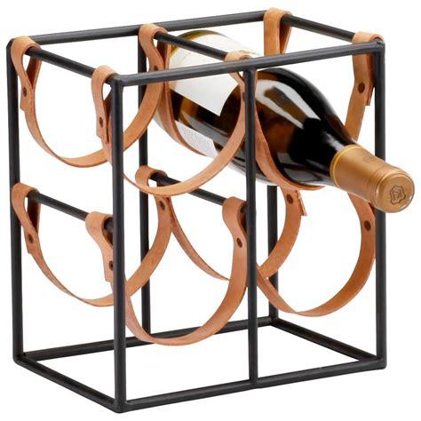 small brighton rustic farmhouse iron leather wine rack