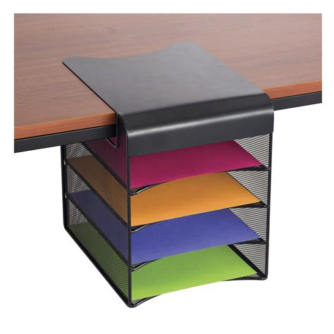 Small Desk Drawer Organizer Onyx Solid Top Horizontal Hanging Storage Safco Products