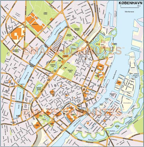 copenhagen map vector copenhagen k 248 benhavn city map in illustrator and pdf digital formats