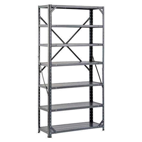 metal garage shelving steel shelving unit heavy duty metal storage shelves rack garage industrial new ebay