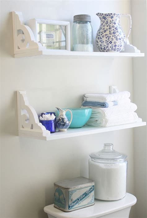 Diy Bathroom Shelves Vintage Inspired Diy Bathroom Shelves