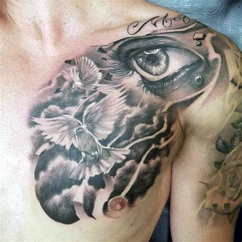 67 Amazing Cloud Chest Tattoos Ideas Made On Chest Cloud Tattoos Designs Chest