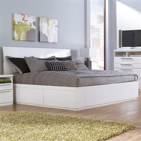 White Bed With Storage by Storage Beds Youll And White Platform Bed With South