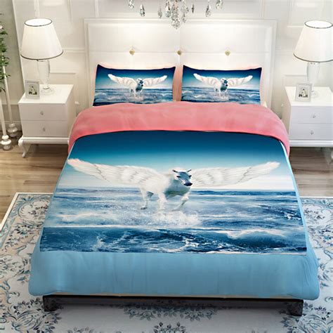 unicorn bedding twin 3d unicorn pegasus blue sea bluesky bedding sets twin