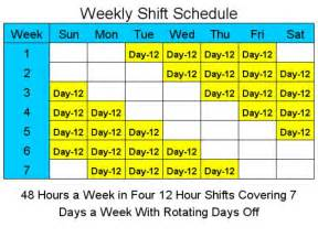 12 Hour Shift Schedule Template by 12 Hour Shift Schedule Template