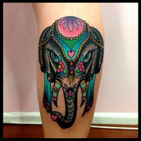 color elephant tattoo cool elephant ideas