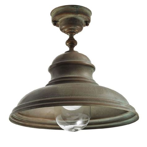 Fixed Ceiling Lights Como Fixed Ceiling Light Aged Copper Broughtons Of Leicester Ltd