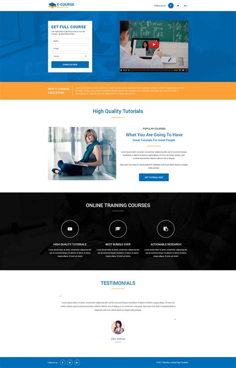 responsive page template web templates landing page templates education landing
