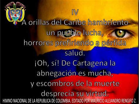 poemas indigenas himno nacional de colombia letra y m 250 sica youtube