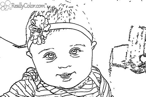 free baby outline coloring pages