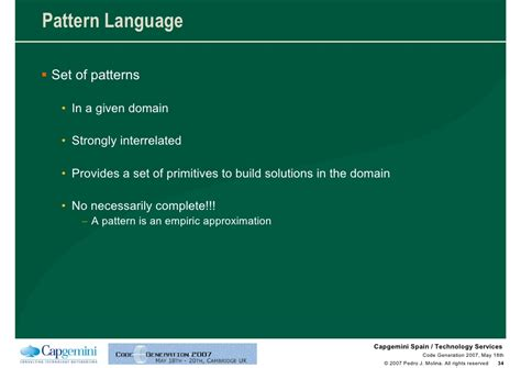 Requirements Pattern Language   code generation for conceptual user interface patterns