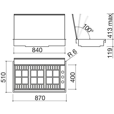 piano cottura con coperchio barazza piano cottura lab gas con coperchio 1plbc2ti