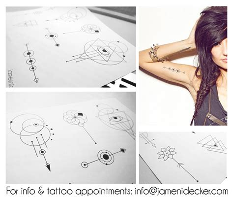 geometric line tattoo geometrical designs 2 by nidecker