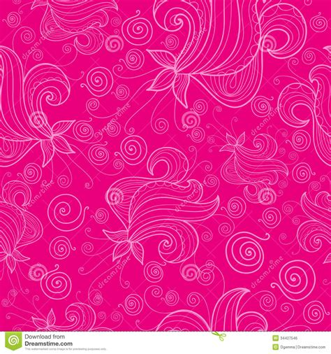 pattern pink background pattern with flowers on pink background stock vector