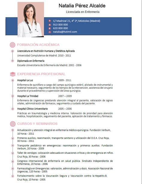 Modelo Curriculum Vitae De Enfermeria Curriculum De M 233 Dicos Enfermeras Plantillas De Cv Sanidad Cvexpres