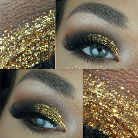Mba Cosmetics Glitter Tutorial by Agape Designs Gold Glitter Date Makeup Mba