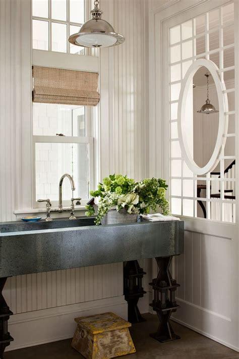 laundry room  zinc basin sink  bridge faucet