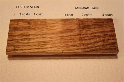 1 or 2 coats of stain on hardwood floors the step staining to match existing hardwood