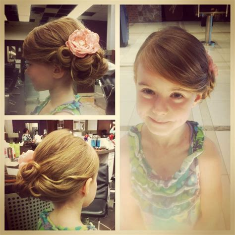 little girl hairstyles updo little girls updo i did hair for special occasions