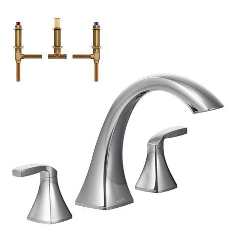 moen bathtub faucet moen voss 2 handle deck mount high arc roman tub faucet