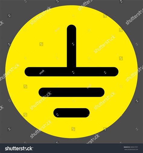 grounding symbol stock vector illustration 300927371