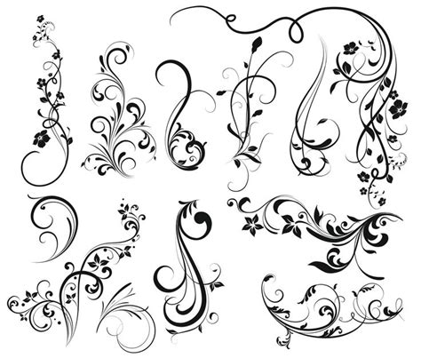 swirly tattoo designs dibujos de flores para tatuar