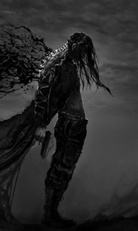 Dark, Fantasy, Hatred, warrior, video game, art, 480x800