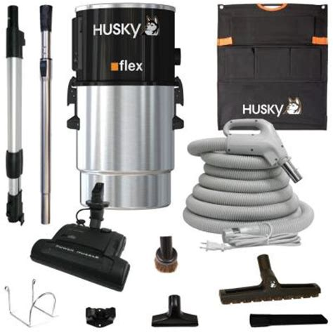 husky central vacuum flex with accessories and electric