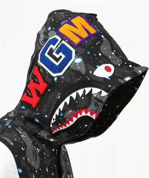 Bape Space Camo space camo bape shark winter hoodie dopestudent