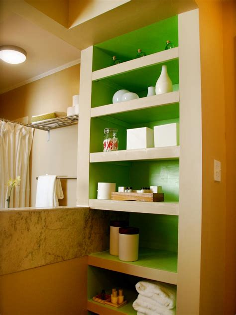 Bathroom Organization Diy Bathroom Ideas Vanities Built In Bathroom Shelves