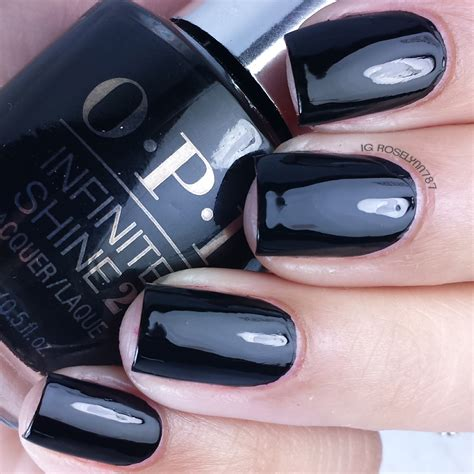 Swatch We Black opi infinite shine swatches pt 2 manicured marvelous