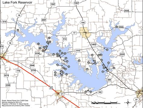 map of lake fork texas lake fork reservoir maplets