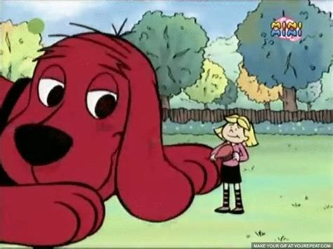 themes in the film red dog image clifford emily lick2 gif the kennel wiki