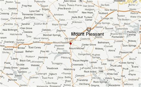 mt pleasant texas map mount pleasant texas location guide