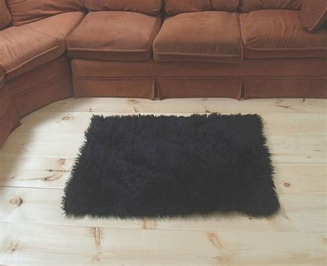 Large Fur Rugs by Faux Fur Area Rug Black Large Other Rugs Carpets